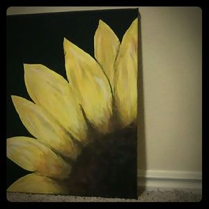 Sunflower picture hand painted